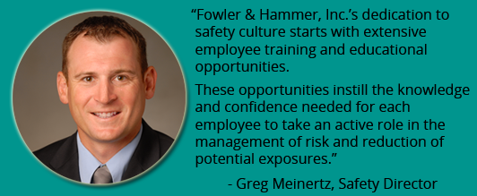 Greg Meinertz Safety Director Quote