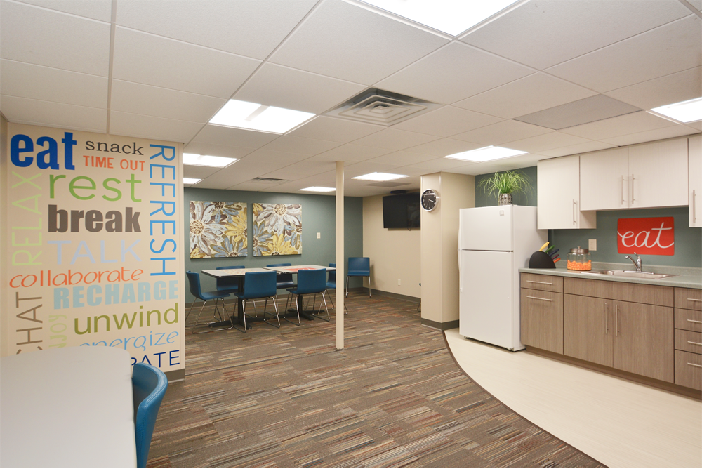 Main Street Dental La Crosse, WI Clinic Employee Lounge
