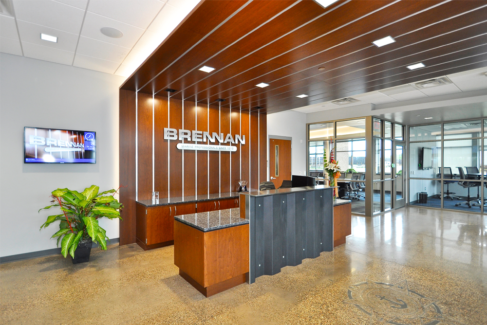 corporate office lobby. J.F. Brennan Company, Inc. Headquarters Main Lobby Corporate Office R