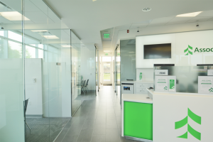 Associated Bank Onalaska Branch Reception Desk & Hallway