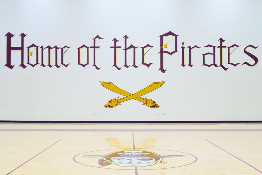 De Soto Middle/High School Gym Floor Logo 2
