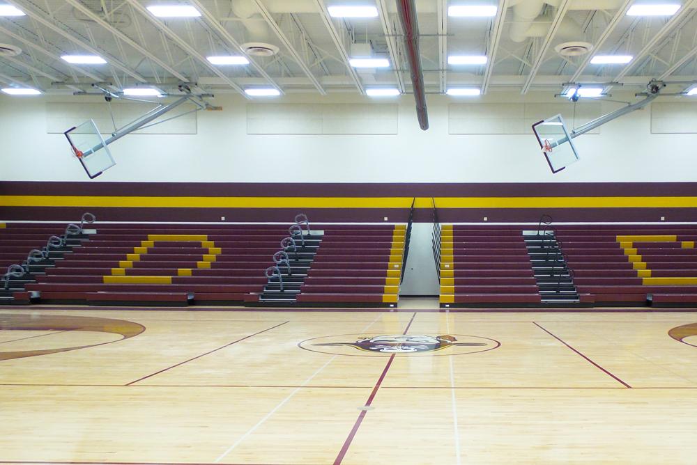 De Soto Middle/High School Gym Bleachers