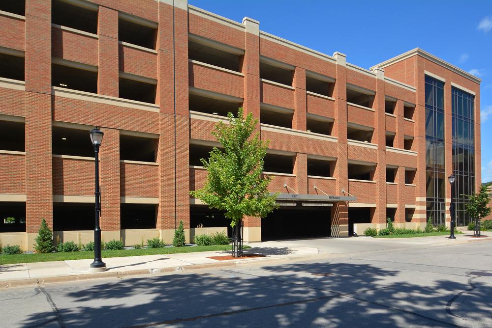 UW-L Campus Parking Ramp Exterior