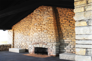 City of La Crosse Grandad Bluff Park Pavilion Fireplace