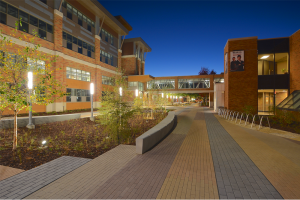 WTC La Crosse Campus Site Improvements - Nighttime Courtyard