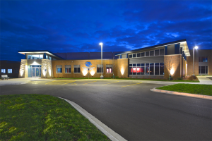 Boys & Girls Clubs of Greater La Crosse Nighttime Exterior