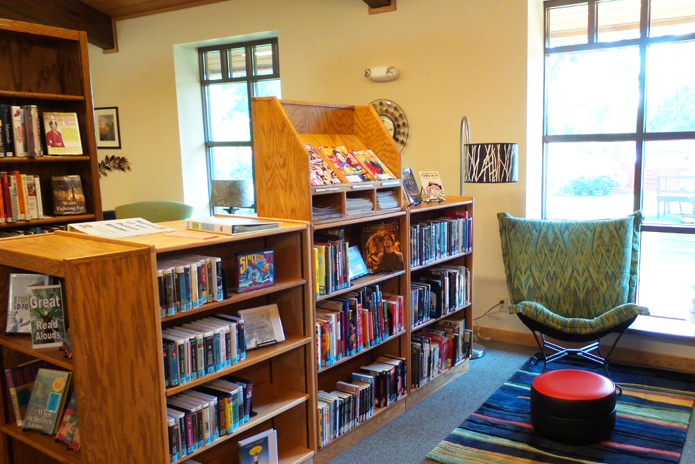 F.J. Robers Library Reading Area