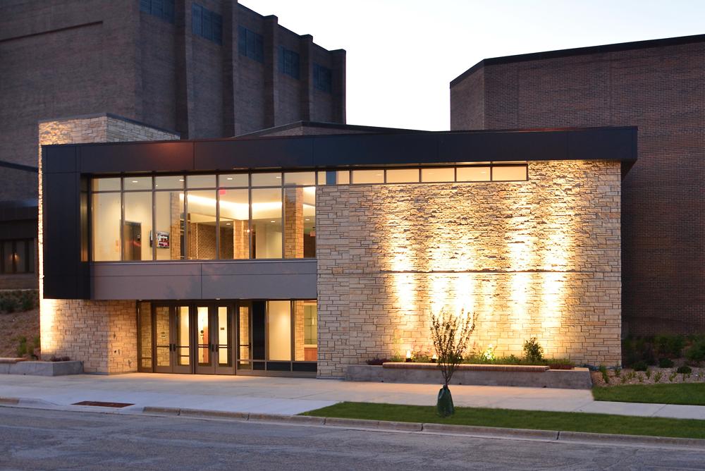 UW-La Crosse Center for the Arts Nighttime Exterior