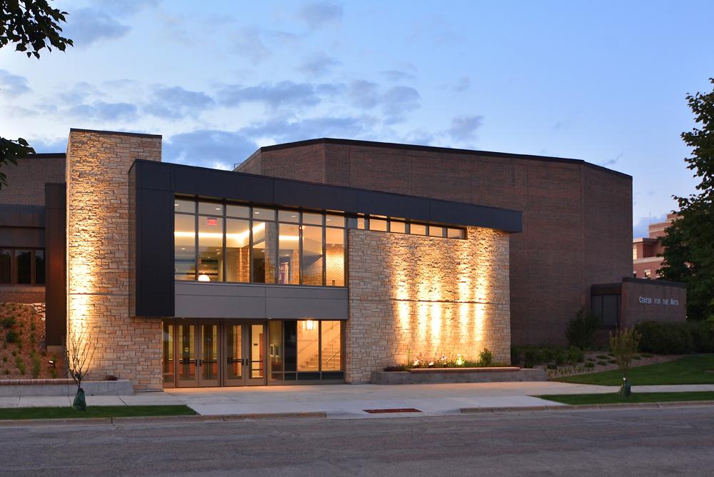 UW-La Crosse Center for the Arts Nighttime Exterior 2
