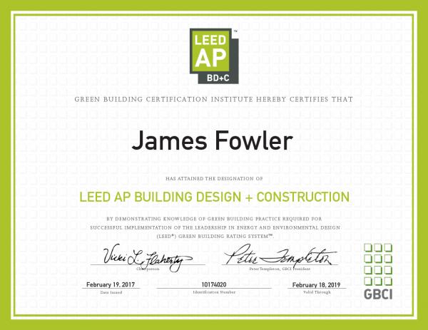 Jim Fowler, LEED AP BD+C