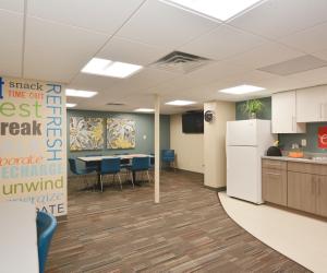 Main Street Dental La Crosse, WI Clinic Employee Lounge