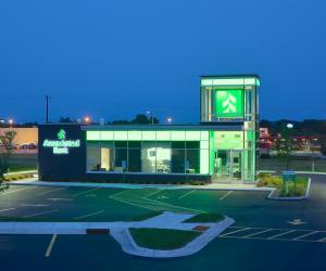 Associated Bank Onalaska Branch Night Time Exterior