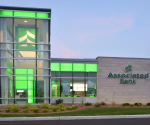 Associated Bank Onalaska Branch Night Time Exterior 2