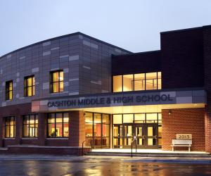 Cashton Middle/High School Nighttime Exterior