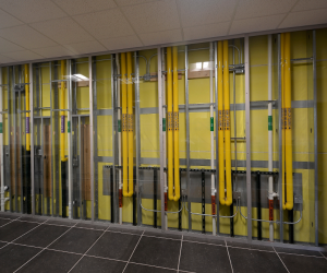 WTC Integrated Technology Center Hallway HVAC Display