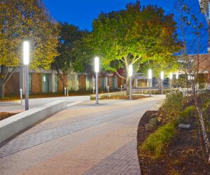 WTC La Crosse Campus Site Improvements - Nighttime Courtyard 2