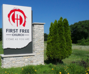 First Free Church Monument Sign
