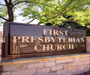 First Presbyterian Church Monument Sign