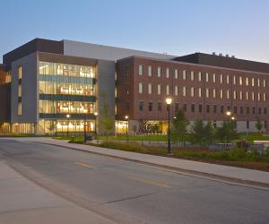 University of Wisconsin - La Crosse - Prairie Springs Science Center - Evening Exterior 3